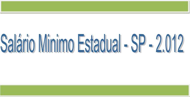 Salario minimo estadual sp 2012