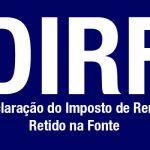 Declaração dirf 2013